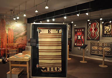 The Weaver's Trail Exhibit at John Wesley Powell Museum