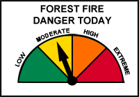 Forest Fire Danger Today - moderate_sm