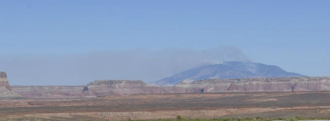 Navajo Mountain Fire Continues
